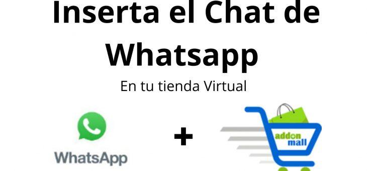 Ya puedes tener WhatsappChat en tu tienda virtual Addonmall