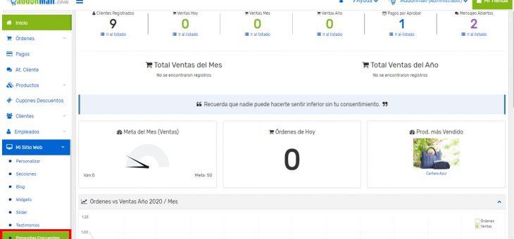 Cómo agregar preguntas frecuentes en mi tienda online Addonmall.com