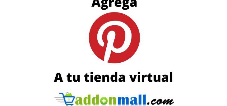 Cómo agregar un widget de Pinterest en mi tienda online Addonmall