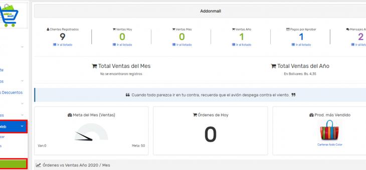 Cómo agregar un widget de categorías en mi tienda virtual Addonmall