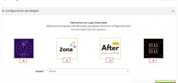 Cómo agregar un widget de fabricantes en mi tienda virtual Addonmall