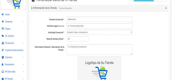 Cómo personalizar o completar los datos de tu Tienda Online