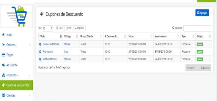 Cómo crear cupones de descuentos sólo para órdenes en tu Tienda Online