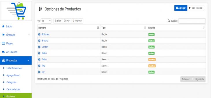 Cómo usar y gestionar las opciones de productos en tu Tienda Online
