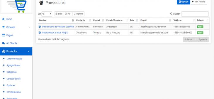 Cómo agregar y asociar proveedores a un producto en tu Tienda Online