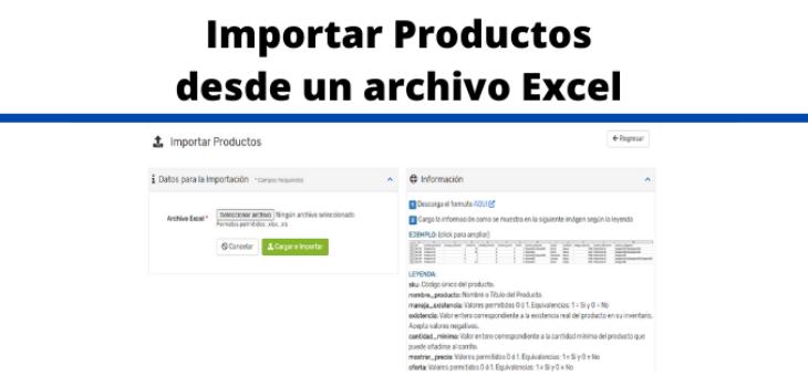 Importador de Productos desde un archivo Excel