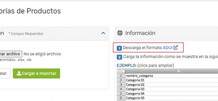 Cómo usar el importador de categorías desde un archivo excel