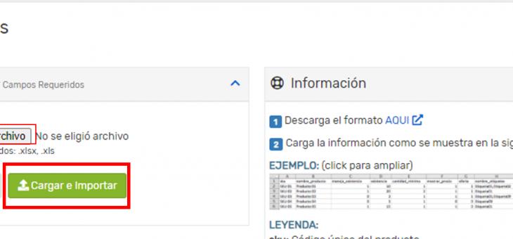Cómo usar el importador de productos desde un archivo excel
