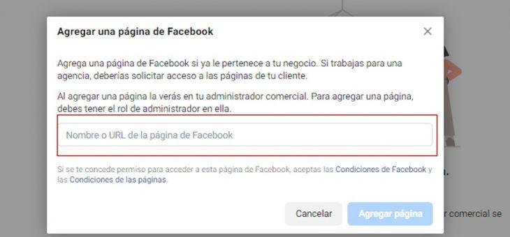 Cómo agregar una página de Facebook al administrador comercial