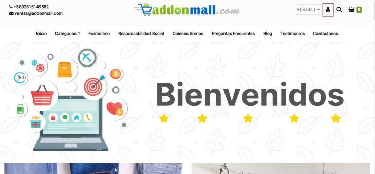 Pasos para actualizar mis datos desde una tienda online Addonmall como cliente